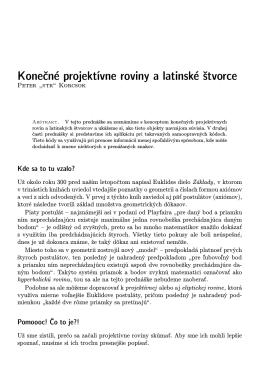 Konečné projektívne roviny a latinské štvorce