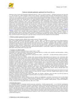 Platnosť od:15.9.2013 Všeobecné obchodné podmienky