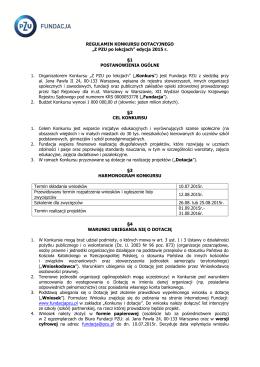 Harmonogram rekrutacji 2015