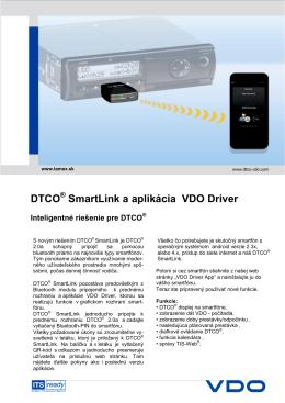 DTCO SmartLink a aplikácia VDO Driver