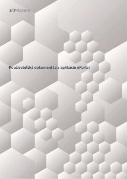 Používateľská dokumentácia aplikácie ePortal