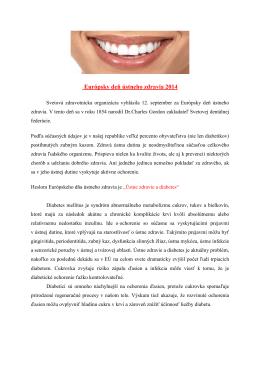 Európsky deň ústneho zdravia 2014 (pdf, 55 kB)