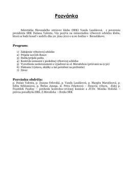 zápis z mimoriadnej výborovej schôdze