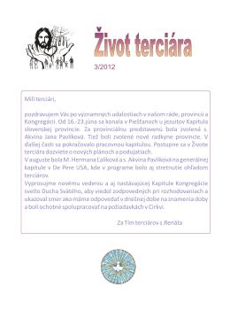 Život terciára 2012/03