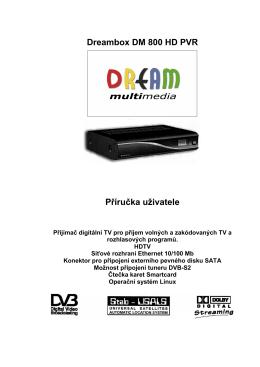 Dreambox DM 800 HD PVR Příručka uživatele