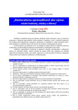 1. info - Restoratívna spravodlivosš ako výzva