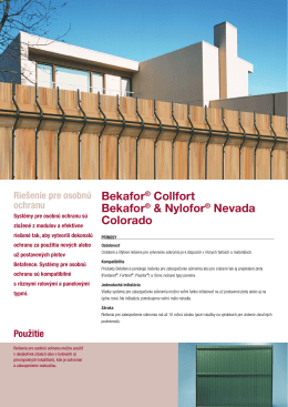 Bekafor® Collfort Bekafor® & Nylofor® Nevada Colorado