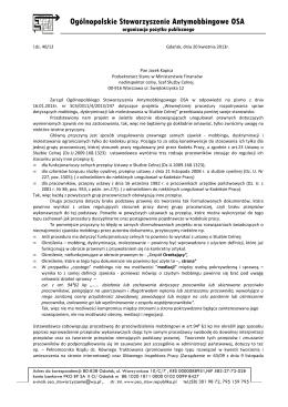 Sprawozdanie z pracy Miejskiej Komisji Rozwiązywania Problemów