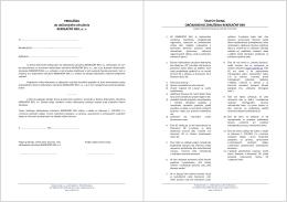 Prihláška za člena OZ