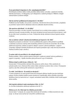 Tipy a triky (pdf)