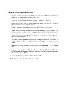 Erasmus postup