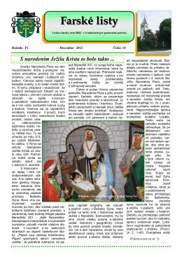 Farské listy c.14.pub - Rímskokatolícká cirkev Farnosť Urmince