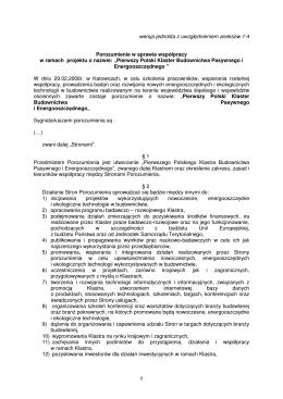 C. Wzór umowy o współpracy w realizacji