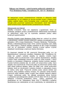 Nákupy cez Internet - Colný úrad Bratislava