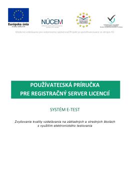 používateľská príručka pre registračný server licencií