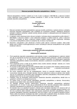 Rokovací poriadok Obecného zastupiteľstva v Kučíne