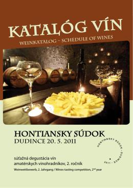 Katalóg vín 2011