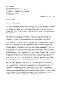 Otvoreny list L. Klausovej - Osobny postoj, 16. 7. 2014 PDF