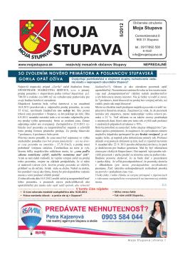 5/2012 - Moja Stupava