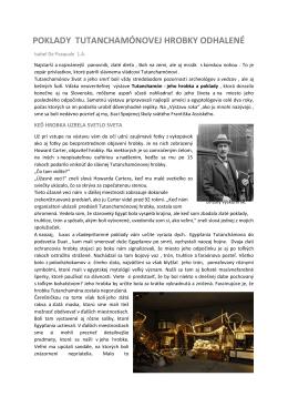 Poklady Tutanchamónovej hrobky odhalené (IdP)