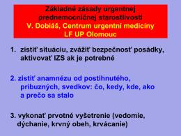 Zásady prednemocničnej urgentnej medicíny