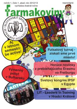 Aj v letnom semestri: beactive! - Slovenský spolok študentov farmácie