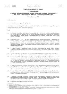 NARIADENIE KOMISIE (EÚ) č. 1304/ 2014