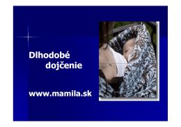 Dlhodobé dojčenie