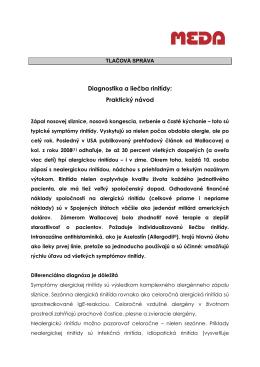 Diagnostika a liečba rinitídy: Praktický návod