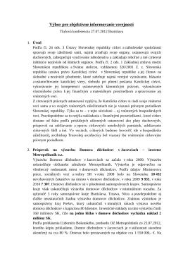 Tlačová konferencia (PDF) - Občiansky výbor za objektívne