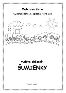 ŠUMIENKY - Materská škola P. Jilemnického 2