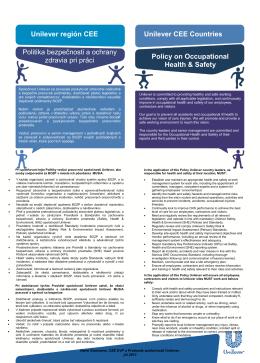 Politika bezpečnosti a ochrany zdravia pri práci - PDF