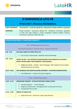 Program szkolenia - Fundacja Europejska Akademia Samorządowa