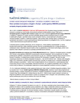 Trendy a vývoj - EMCDDA