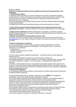 regulamin projektu - Biuletyn Informacji Publicznej Urzędu Gminy