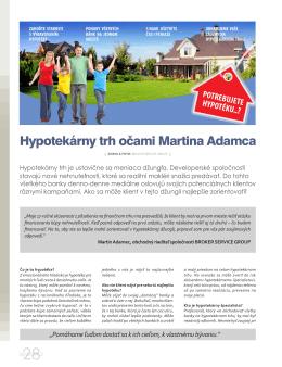 Hypotekárny trh očami Martina Adamca
