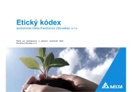 Etický kódex - Delta Electronics
