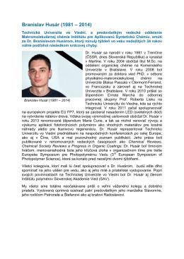 Nachruf Branislav_slovakisch