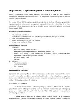 Informácie k vyšetreniam - izd