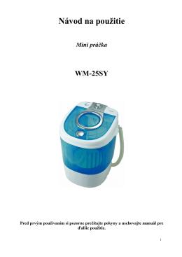 WM-25SY SK manual - dia