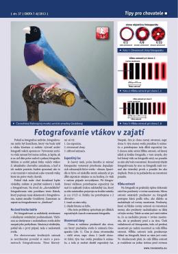 Fotografovanie vtákov v zajatí