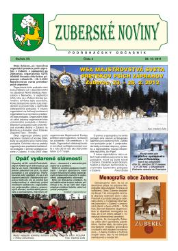 Zuberské noviny 4/2011 Formát PDF