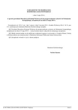 Sprawozdanie z prac Burmistrza w okresie od 11.06.2014 do 10.08