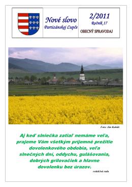 Nové slovo 2/2011 - Obec Partizánska Ľupča