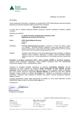 Správna rada - Junior Achievement Slovensko, no
