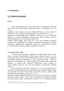 3. Exhortácie