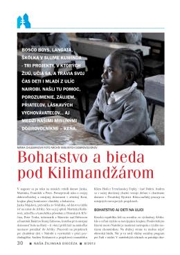 Bohatstvo a bieda pod Kilimandžárom