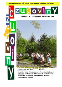 Máj 2013 - Základná škola, Vajanského 2844/47, Lučenec
