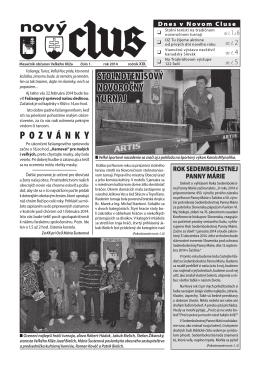 Obecné noviny č.1 - 2014