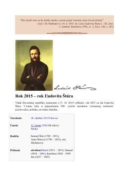 Rok 2015 – rok Ľudovíta Štúra (.pdf, 146 kB)